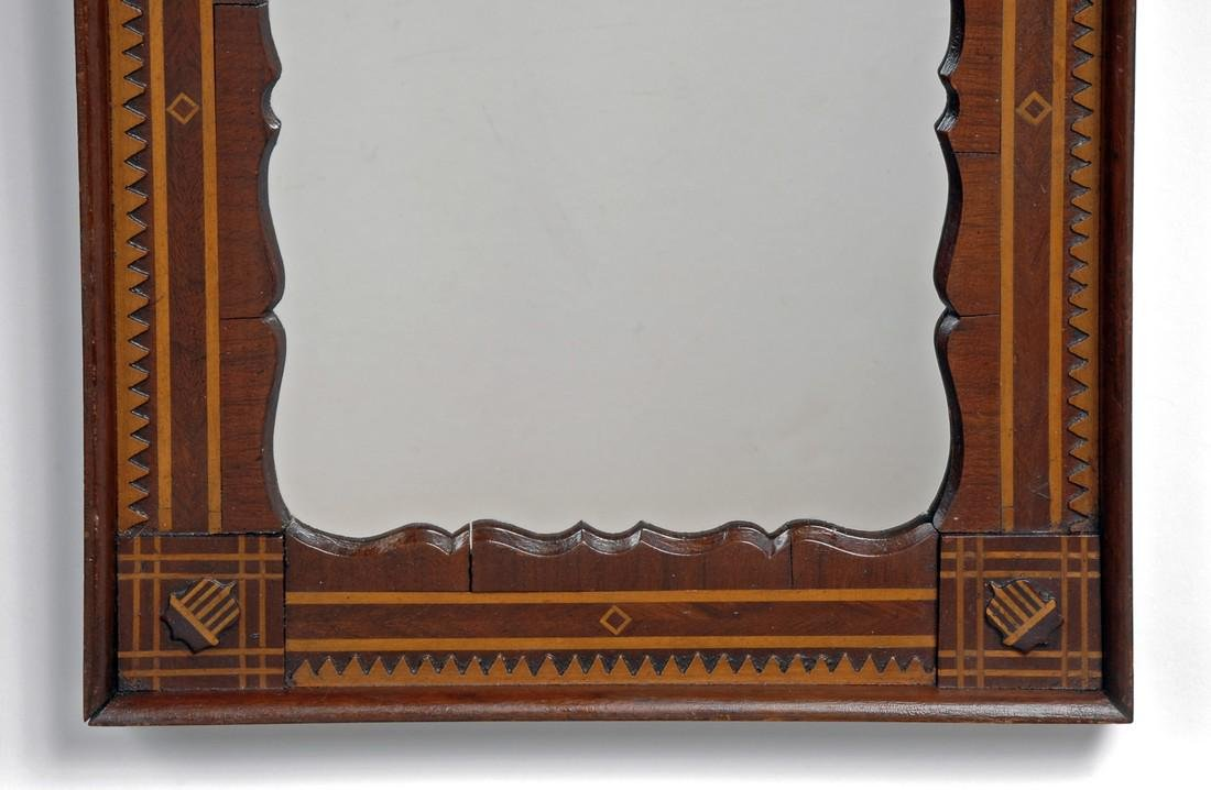 Pair of Patriotic Inspired Marquetry Mirrors - 2