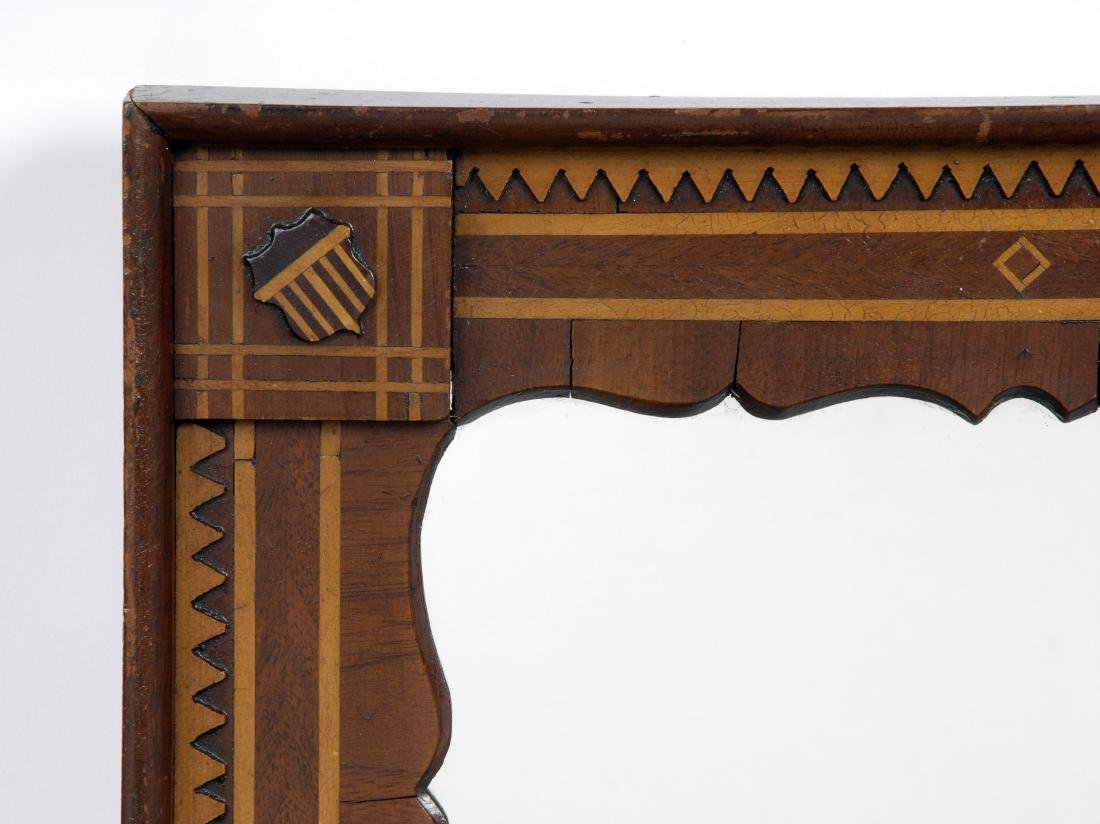 Pair of Patriotic Inspired Marquetry Mirrors - 4