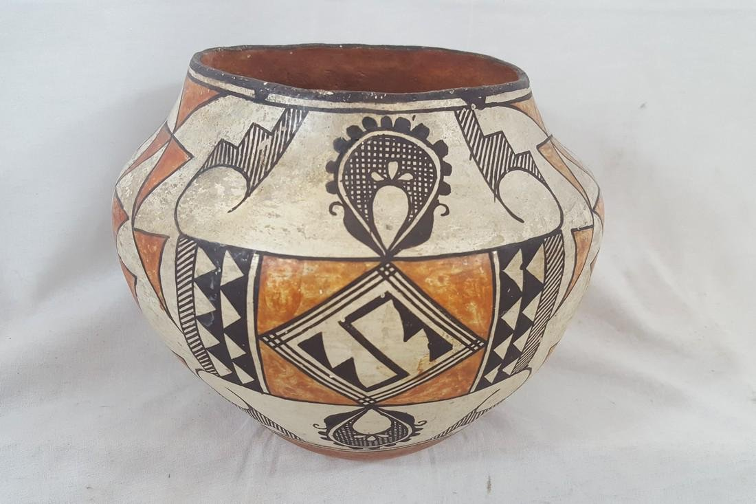 Acoma Pueblo Coiled and Decorated Large Jar Ca 1920's