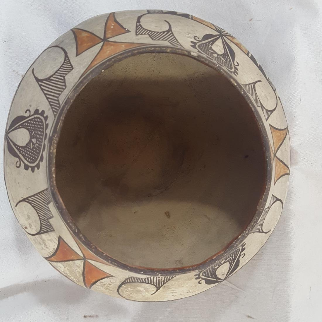 Acoma Pueblo Coiled and Decorated Large Jar Ca 1920's - 4
