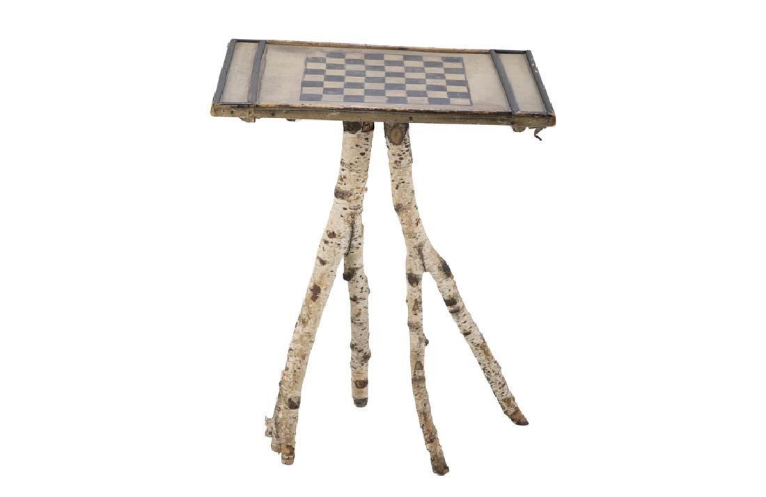 Maine Checkerboard Twig Table
