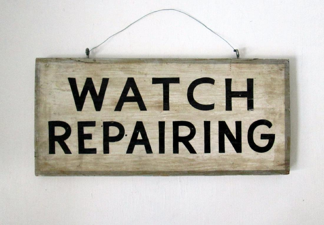 Early Watch Repairing Trade Sign
