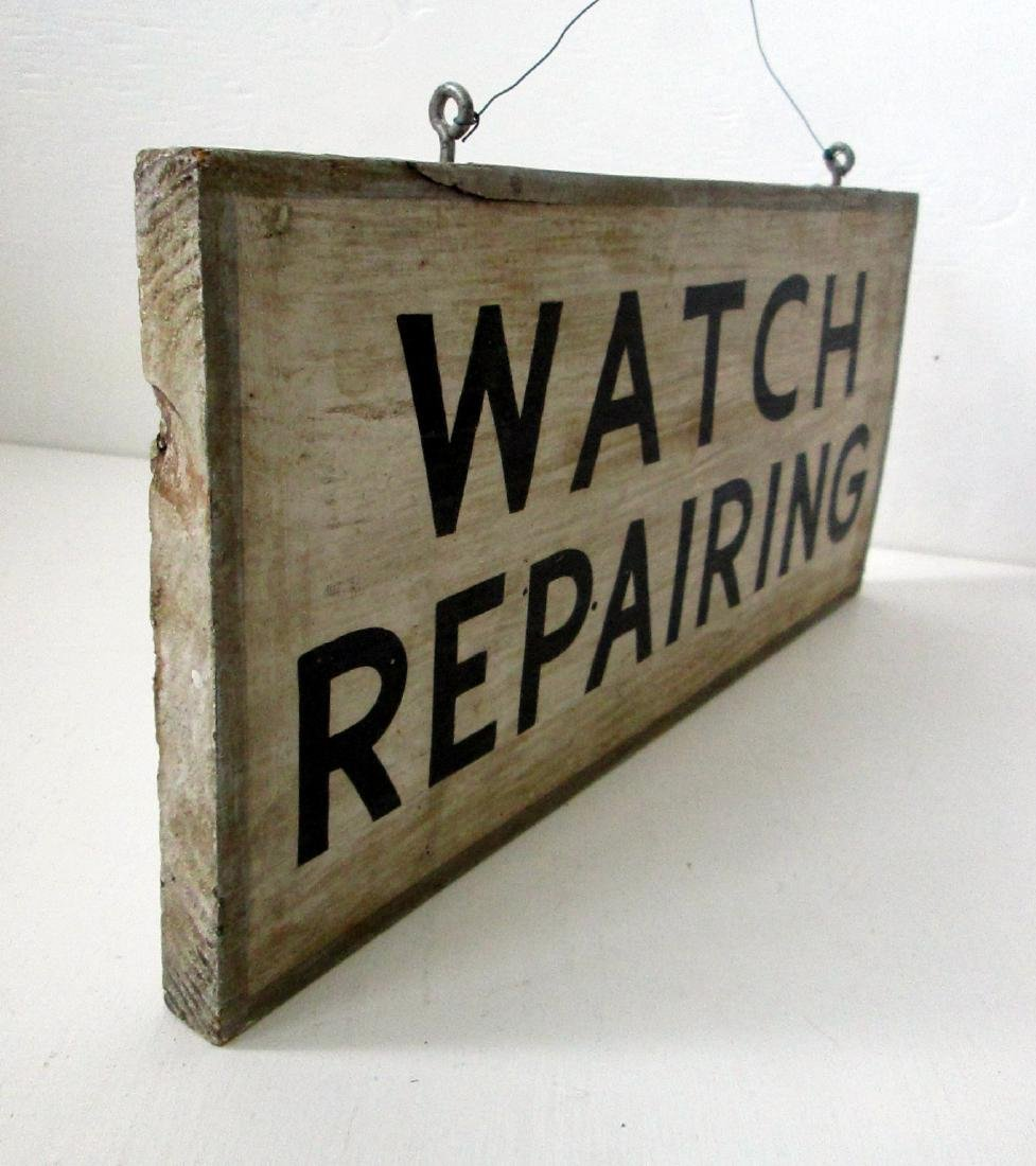 Early Watch Repairing Trade Sign - 6