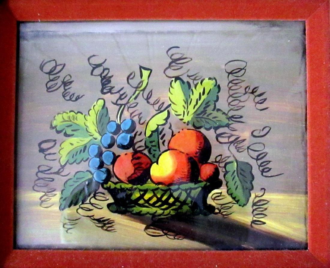 Eglomise Fruit Theorem Painting - 2