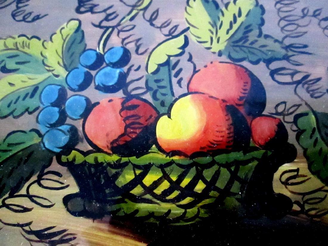 Eglomise Fruit Theorem Painting - 3