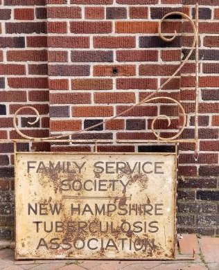 New Hampshire Tuberculosis Society Hanging Bracket Sign