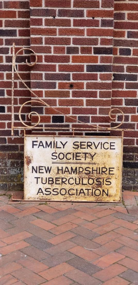 New Hampshire Tuberculosis Society Hanging Bracket Sign - 2