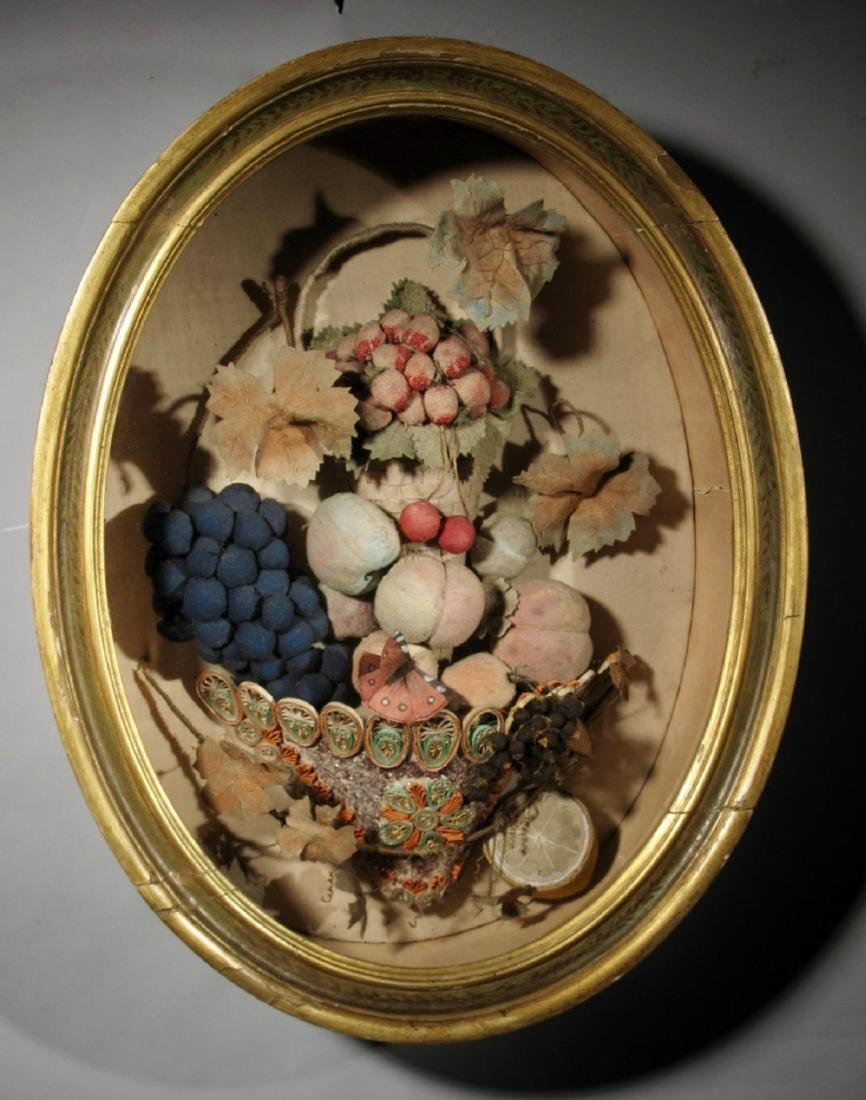 American Feltwork Shadow Box, First Half 19th Century