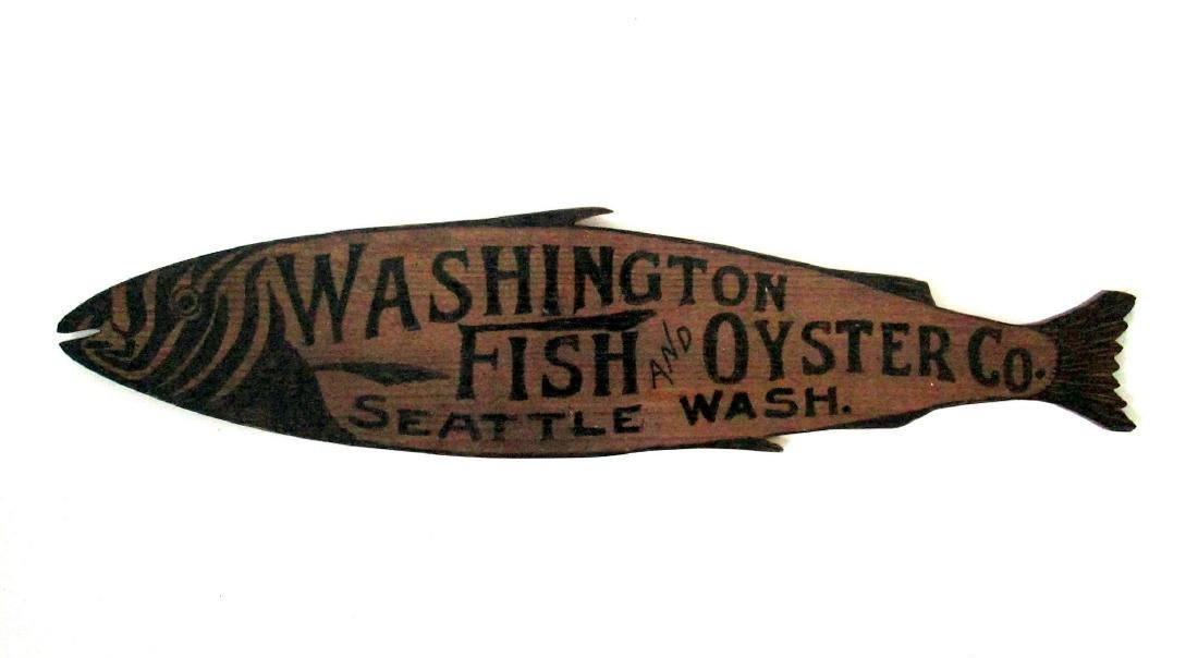 Carved Fish & Oyster Trade Sign