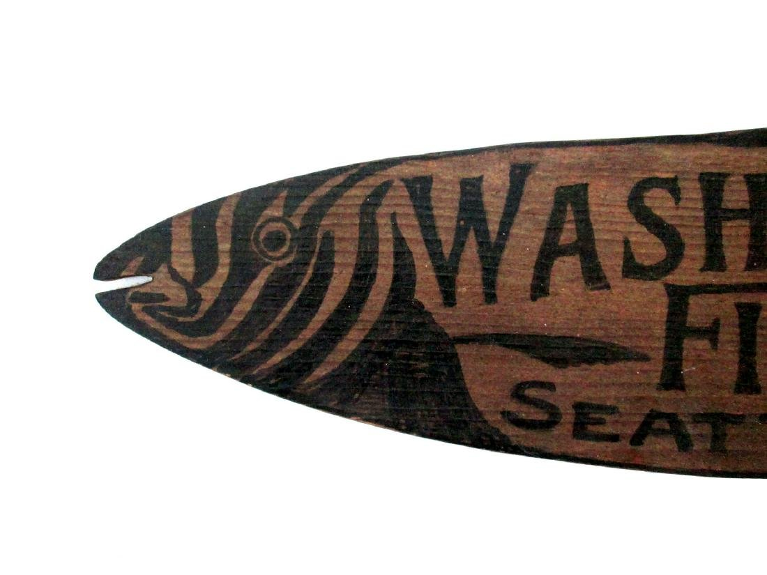 Carved Fish & Oyster Trade Sign - 2