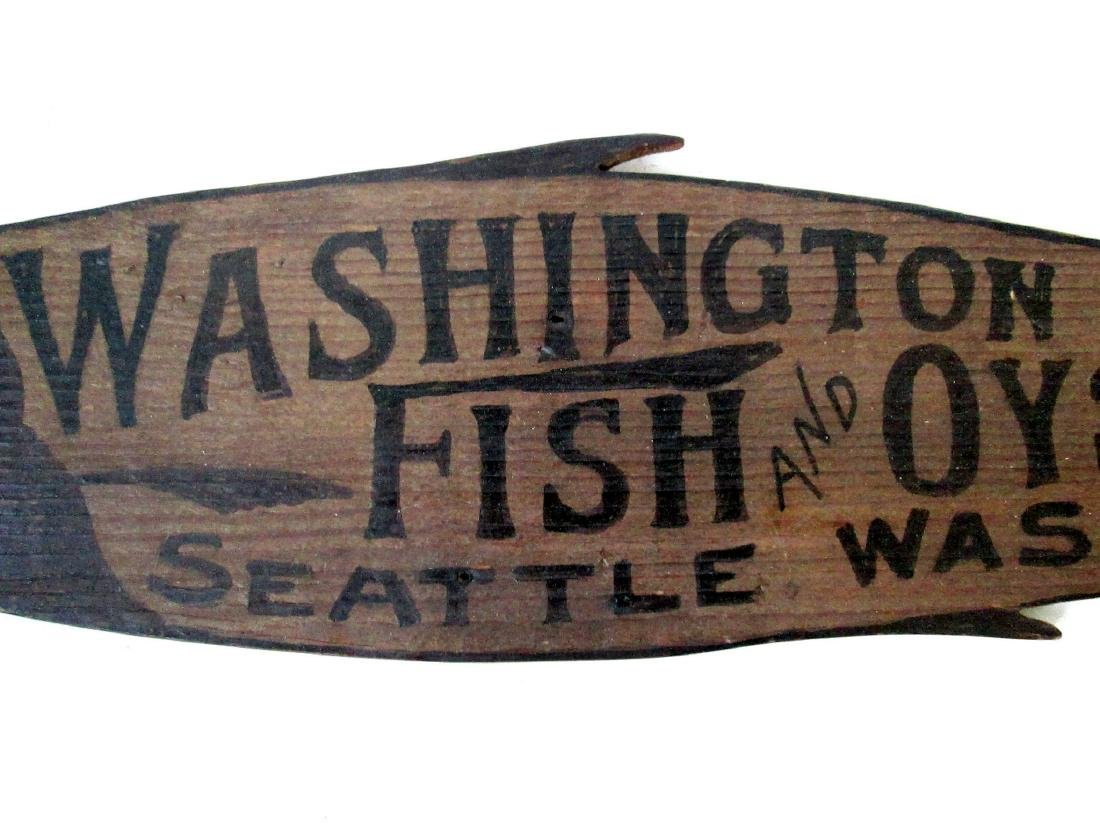 Carved Fish & Oyster Trade Sign - 3