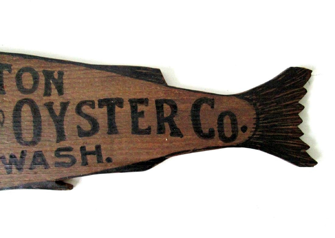 Carved Fish & Oyster Trade Sign - 4