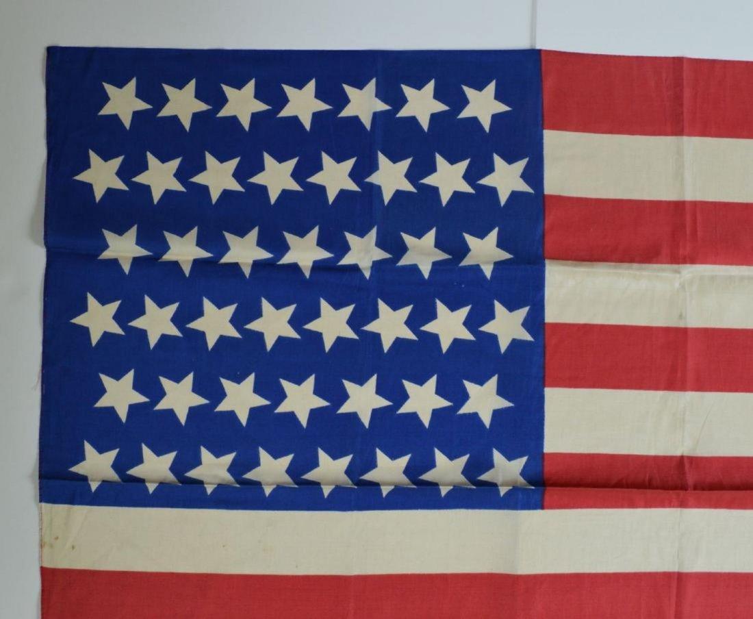 1896 Vintage 45 Star American Parade Flag Printed Silk - 2