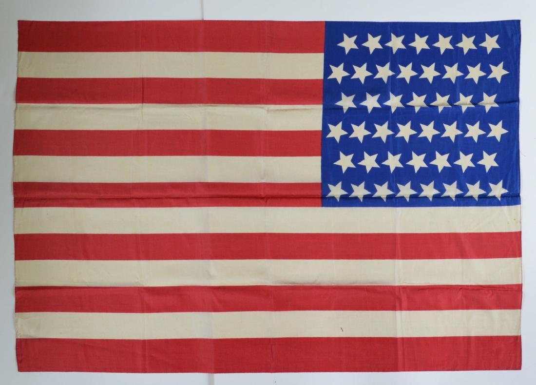 1896 Vintage 45 Star American Parade Flag Printed Silk - 3