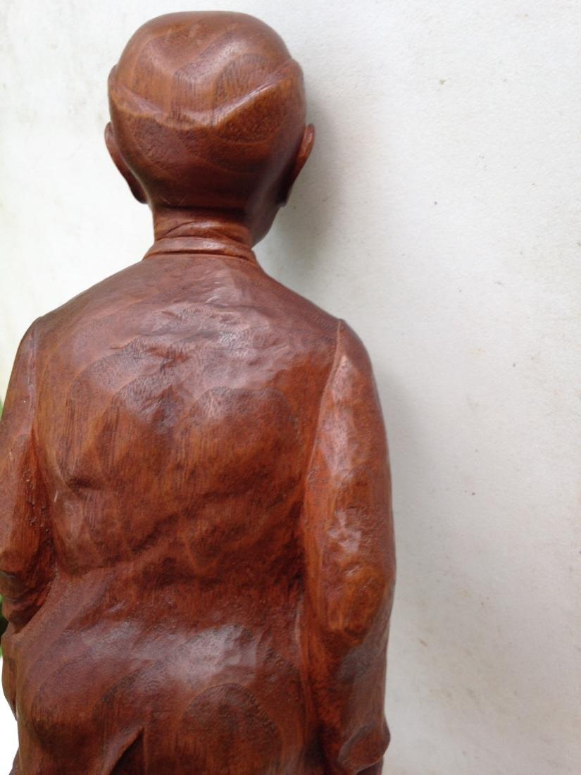 C 1940's Carved Walnut Man With Dog - 8