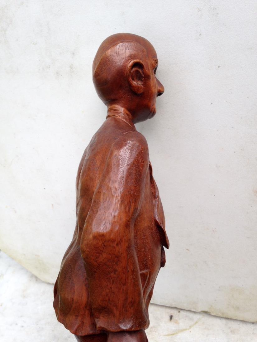 C 1940's Carved Walnut Man With Dog - 9