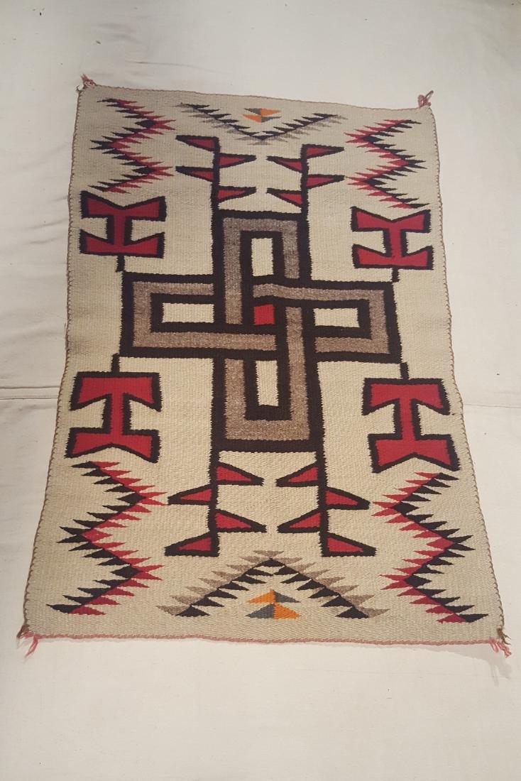Navajo Klagetoh Woven Rug Ca 1930 - 2