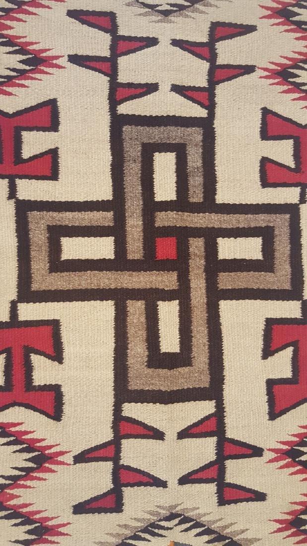 Navajo Klagetoh Woven Rug Ca 1930 - 4