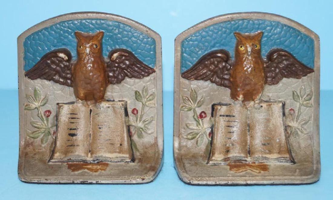 Owl on Book Cast Iron Bookends