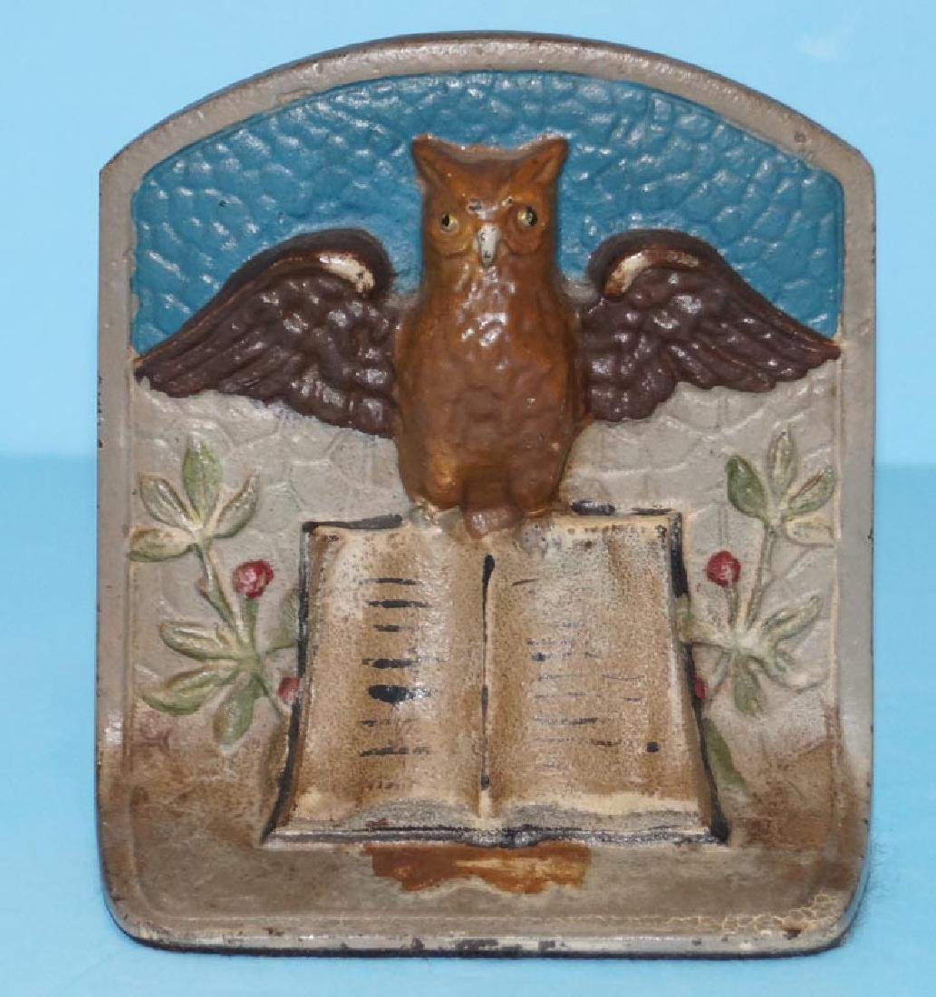Owl on Book Cast Iron Bookends - 2