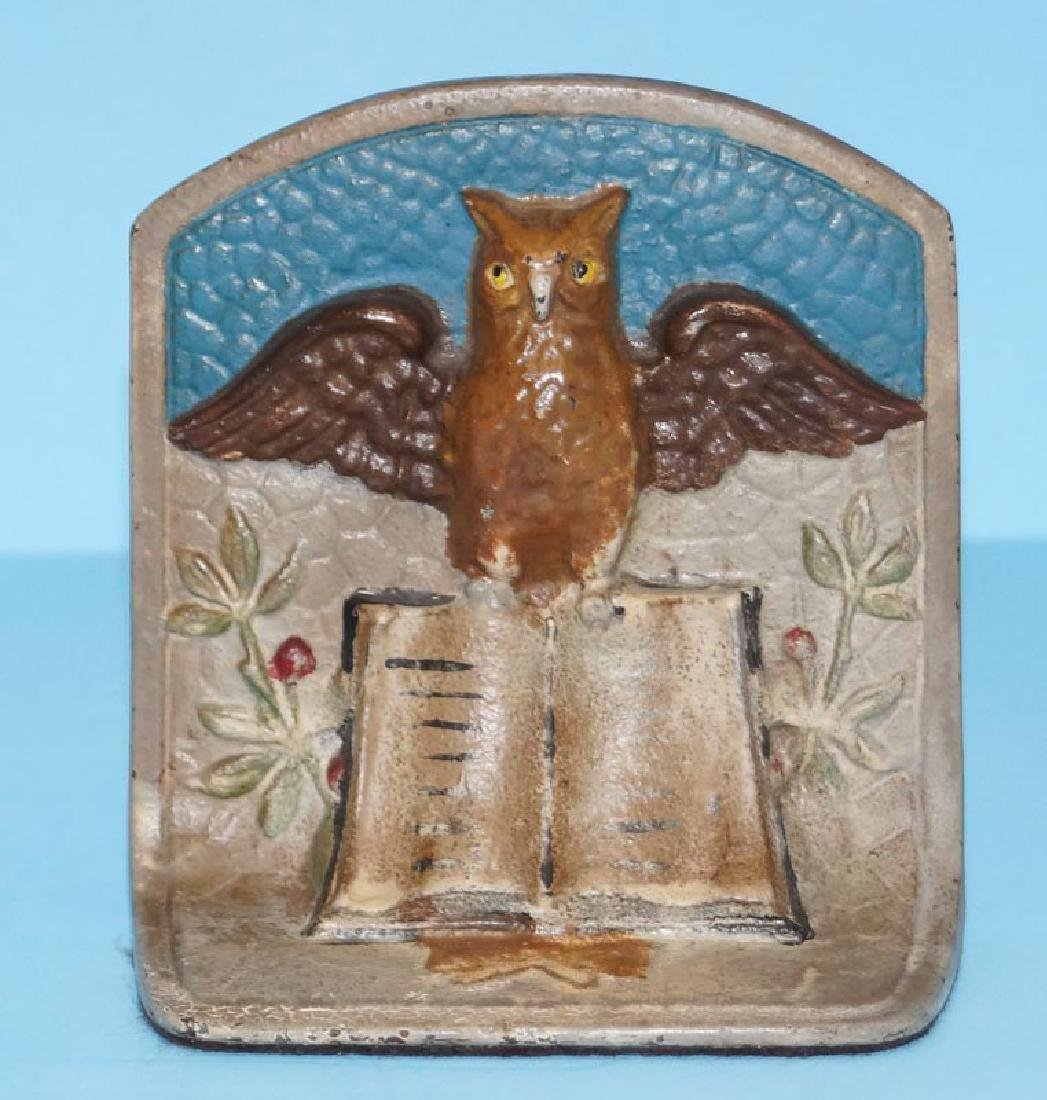 Owl on Book Cast Iron Bookends - 3