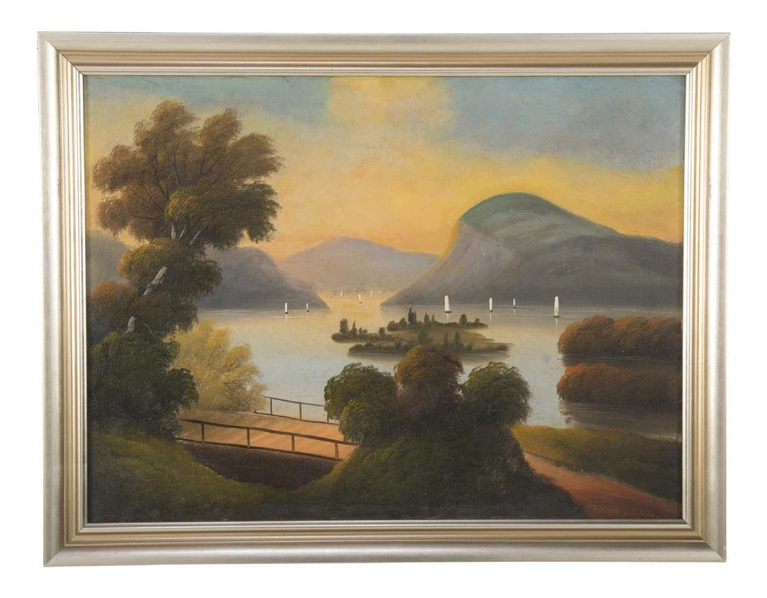Set of 4 19th Century Hudson River Paintings - 2