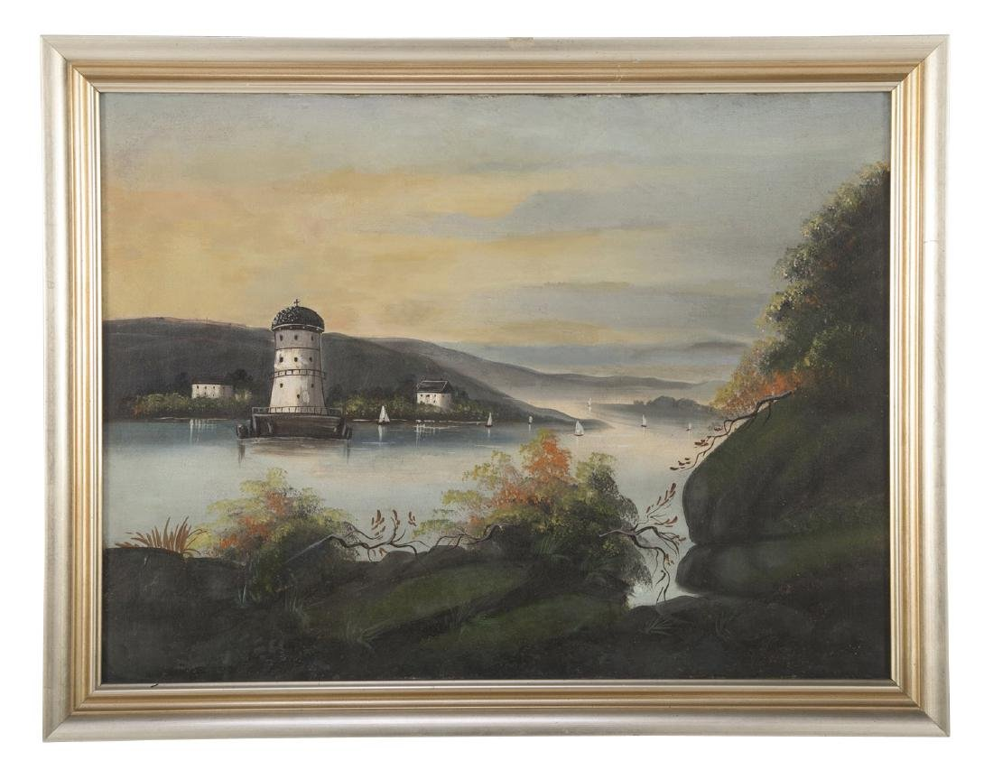 Set of 4 19th Century Hudson River Paintings - 3