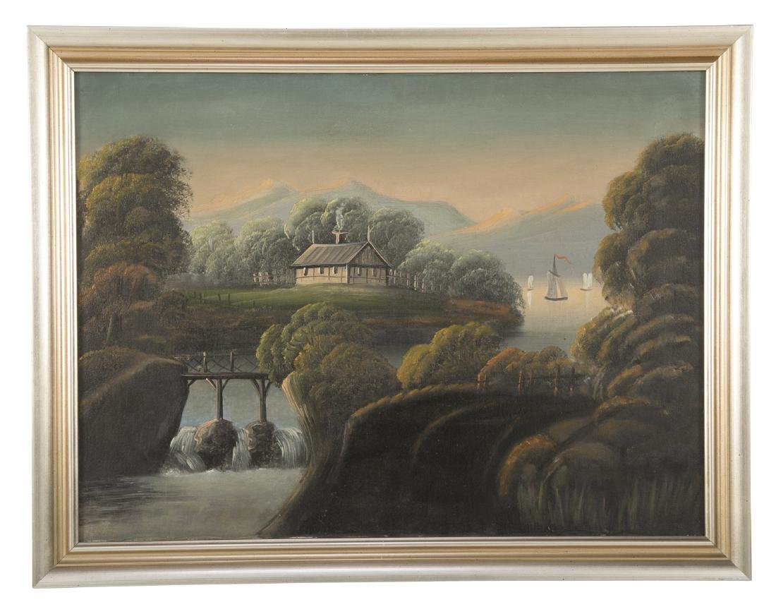 Set of 4 19th Century Hudson River Paintings - 4