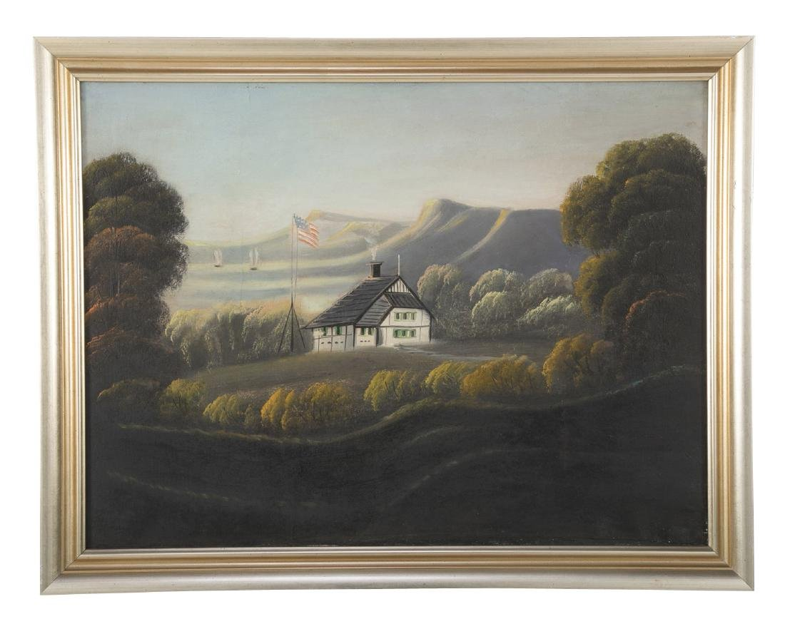 Set of 4 19th Century Hudson River Paintings - 5