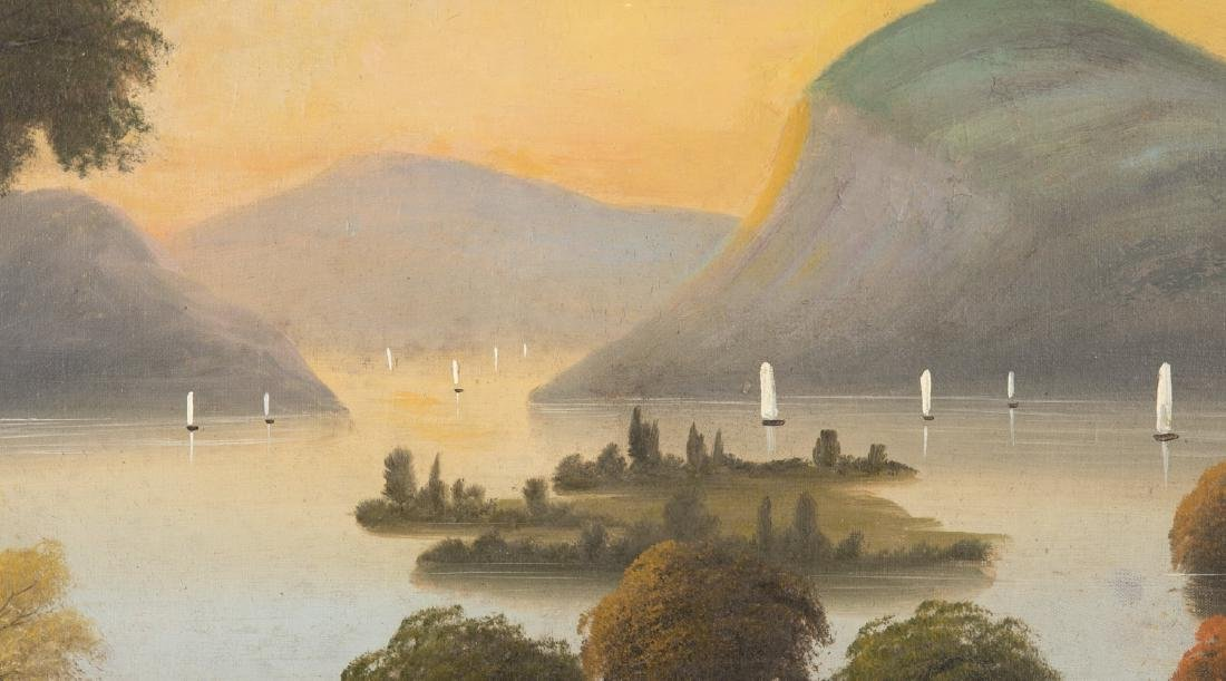 Set of 4 19th Century Hudson River Paintings - 6