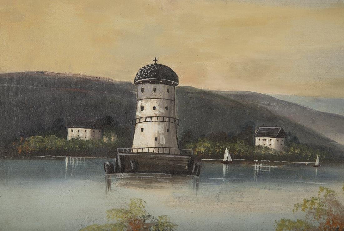 Set of 4 19th Century Hudson River Paintings - 7