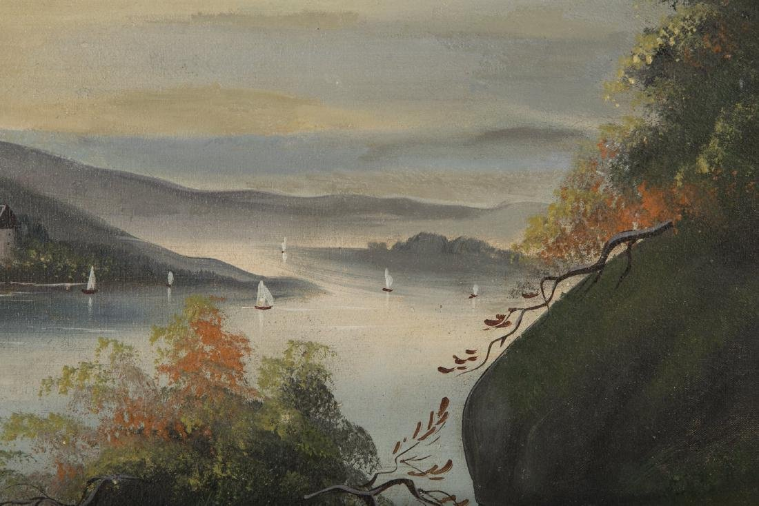 Set of 4 19th Century Hudson River Paintings - 8