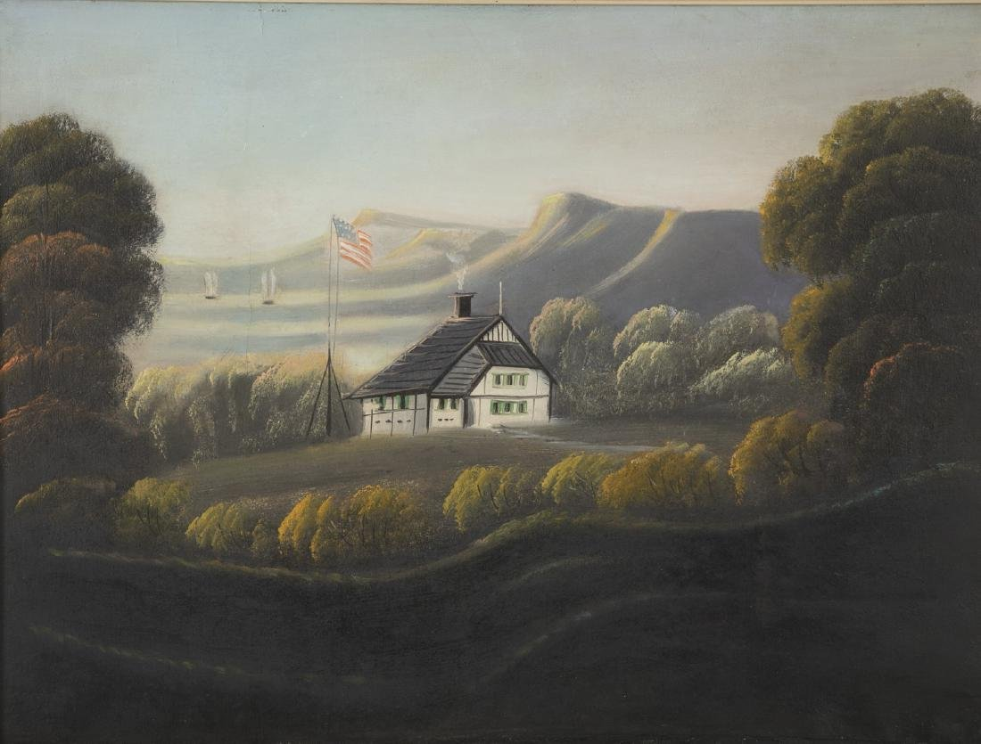 Set of 4 19th Century Hudson River Paintings - 9