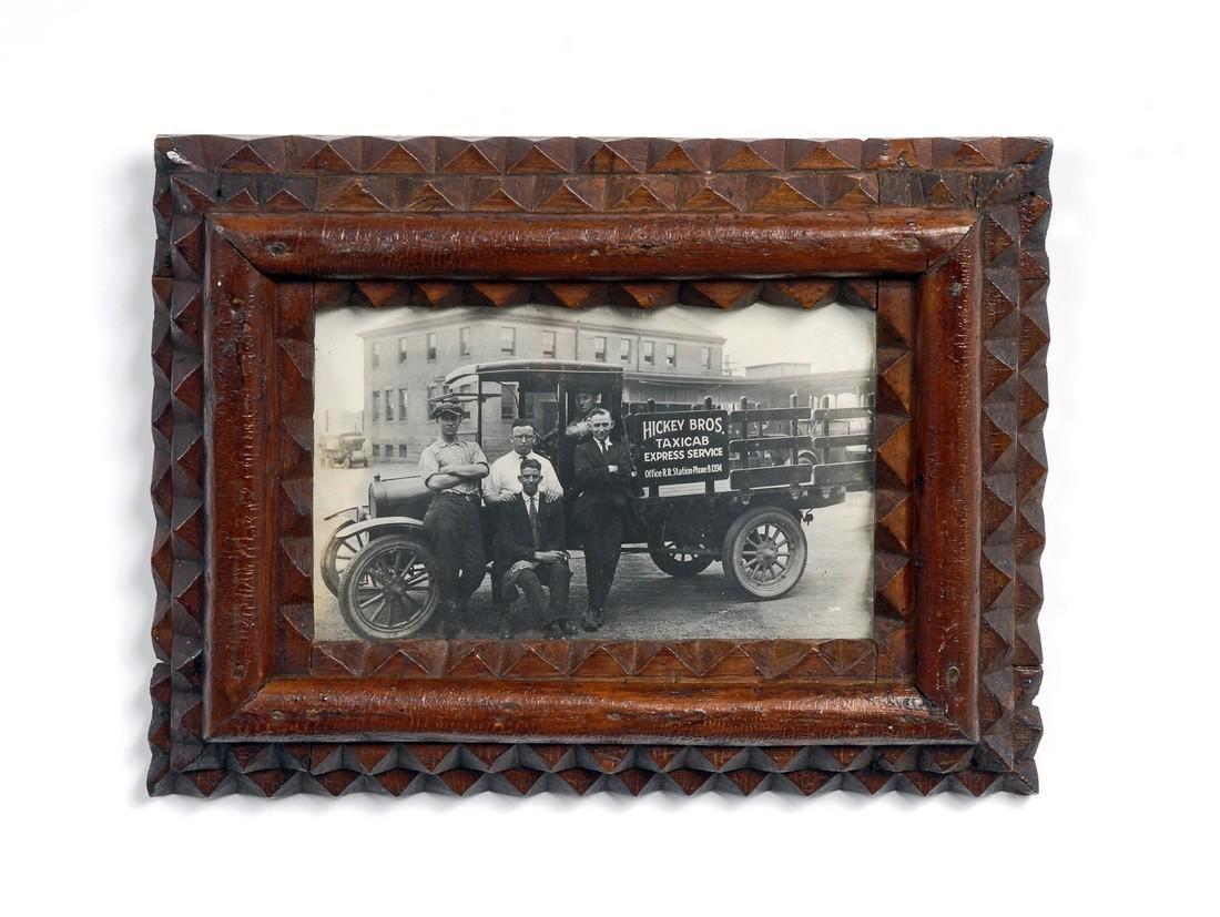 Tramp Art Frame with Original Photograph