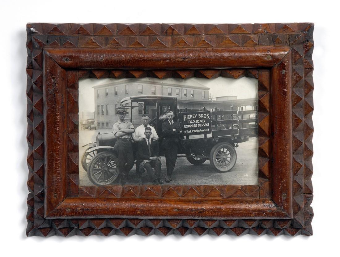 Tramp Art Frame with Original Photograph - 2