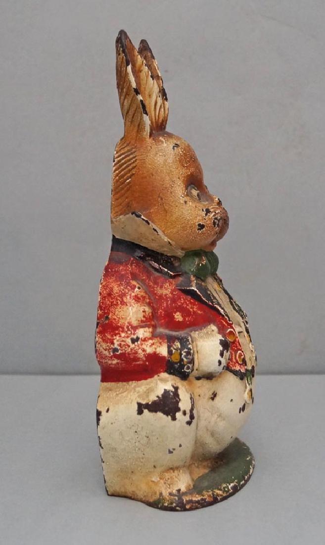 Grandpa Rabbit Cast Iron Doorstop - 2