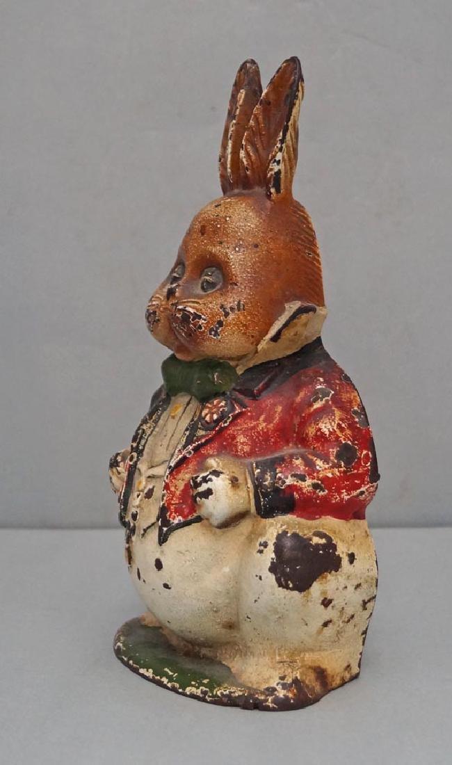 Grandpa Rabbit Cast Iron Doorstop - 4