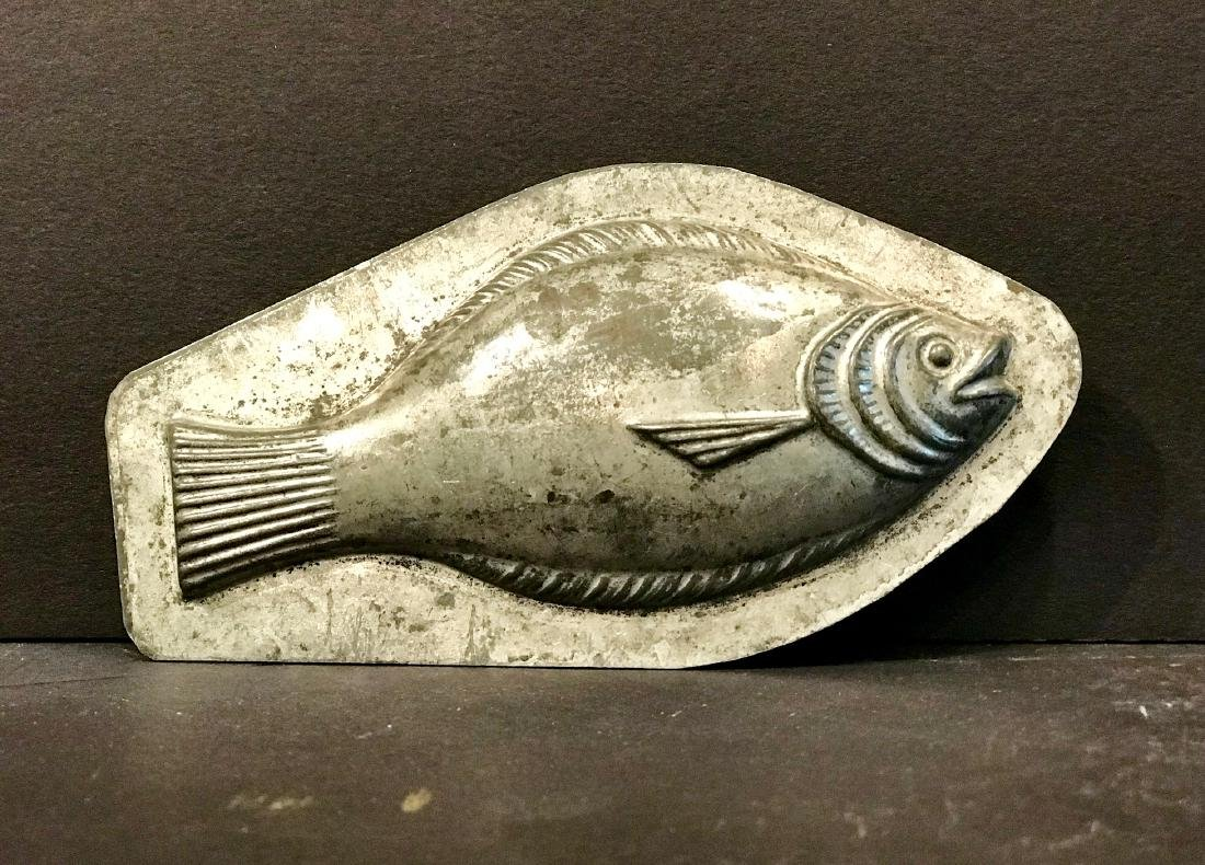 Diminutive Fish Chocolate Mold, Early 20th Century