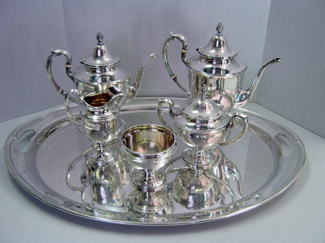 Sterling Silver Tea Service Tray Dolly Madison Gorham
