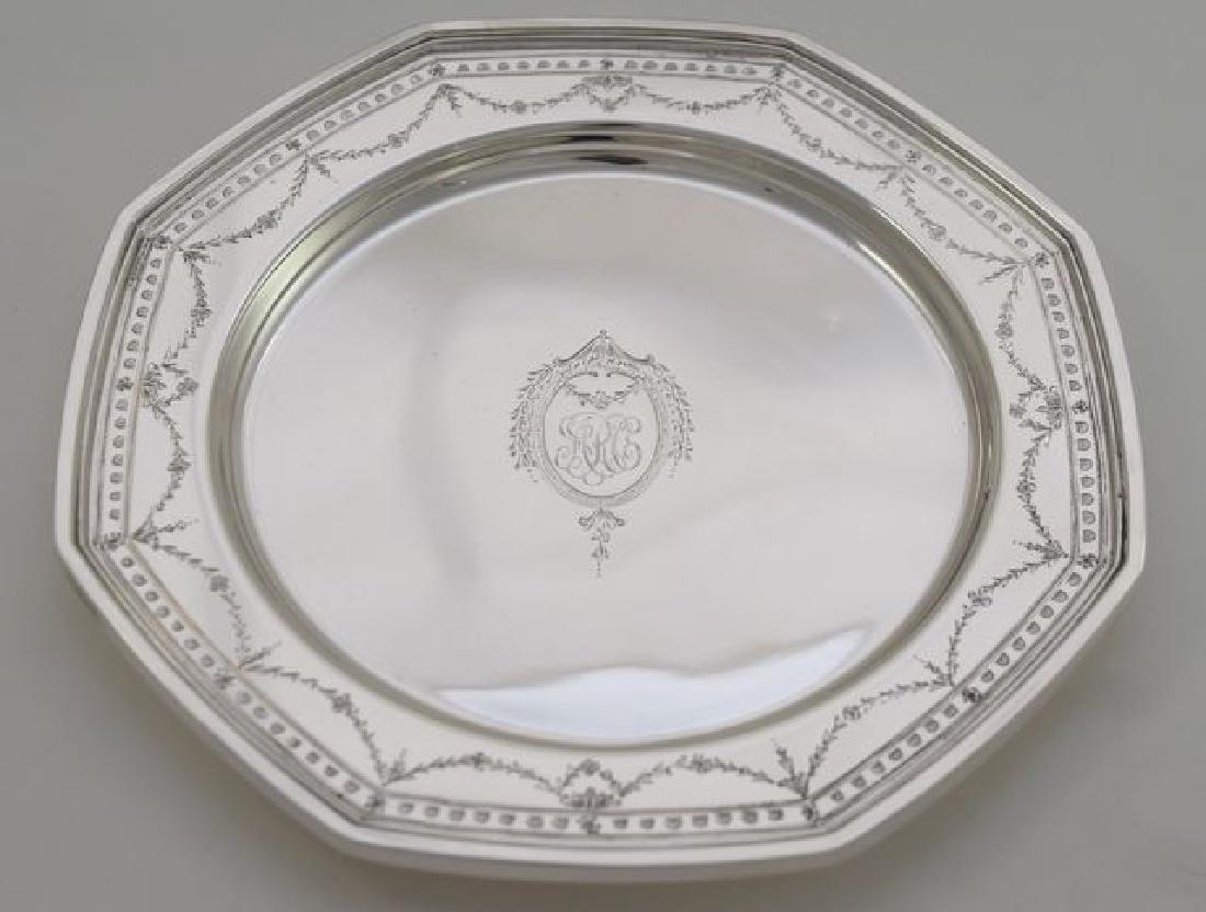 12 Sterling Silver Bread Plate - #H401 by International