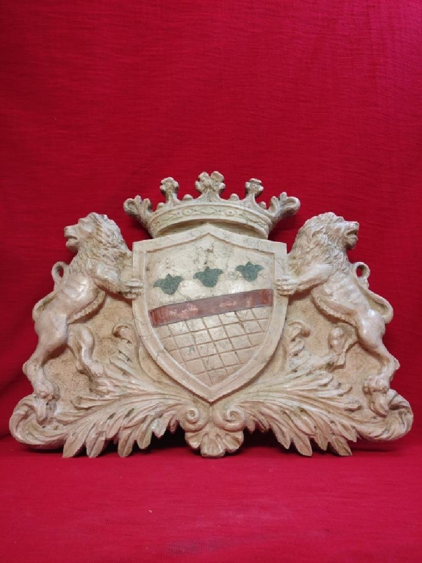 Florentine coat of arms in Botticino marble - 10