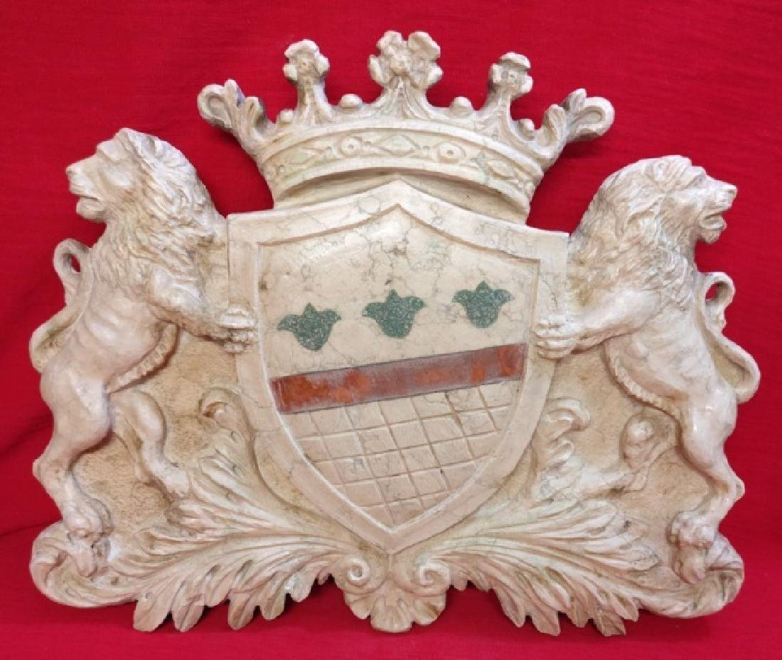 Florentine coat of arms in Botticino marble