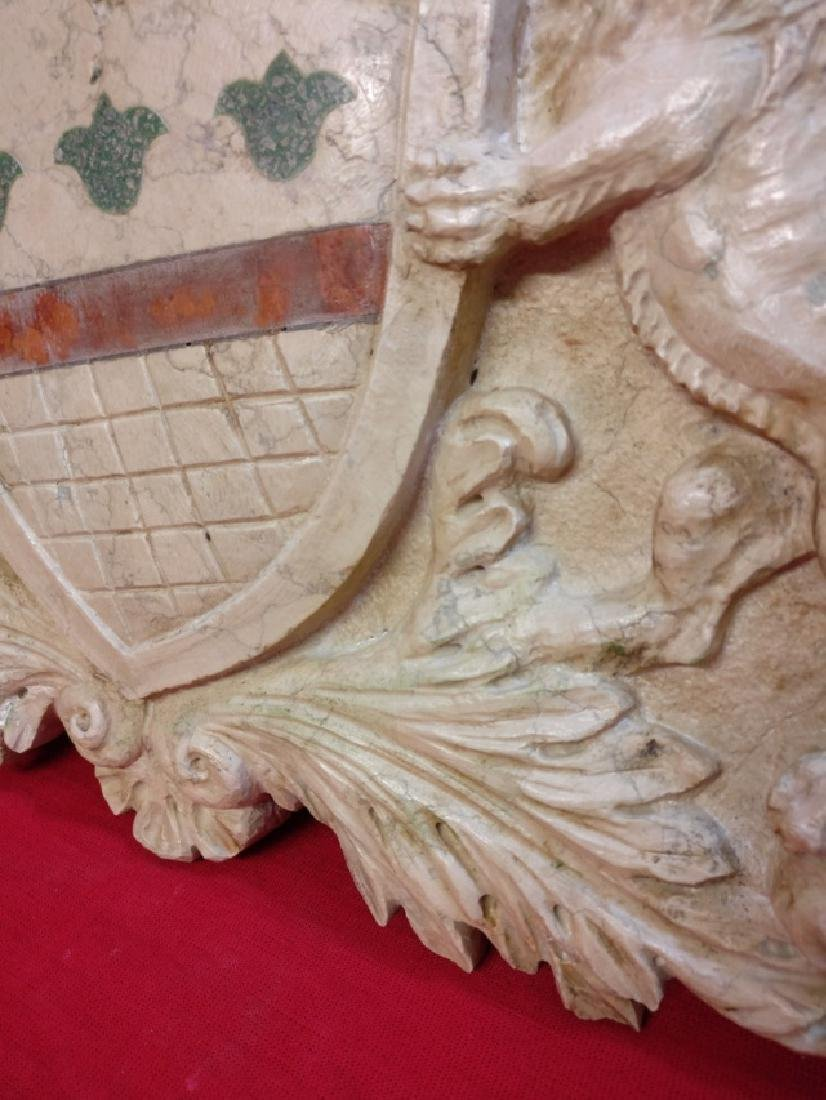 Florentine coat of arms in Botticino marble - 6