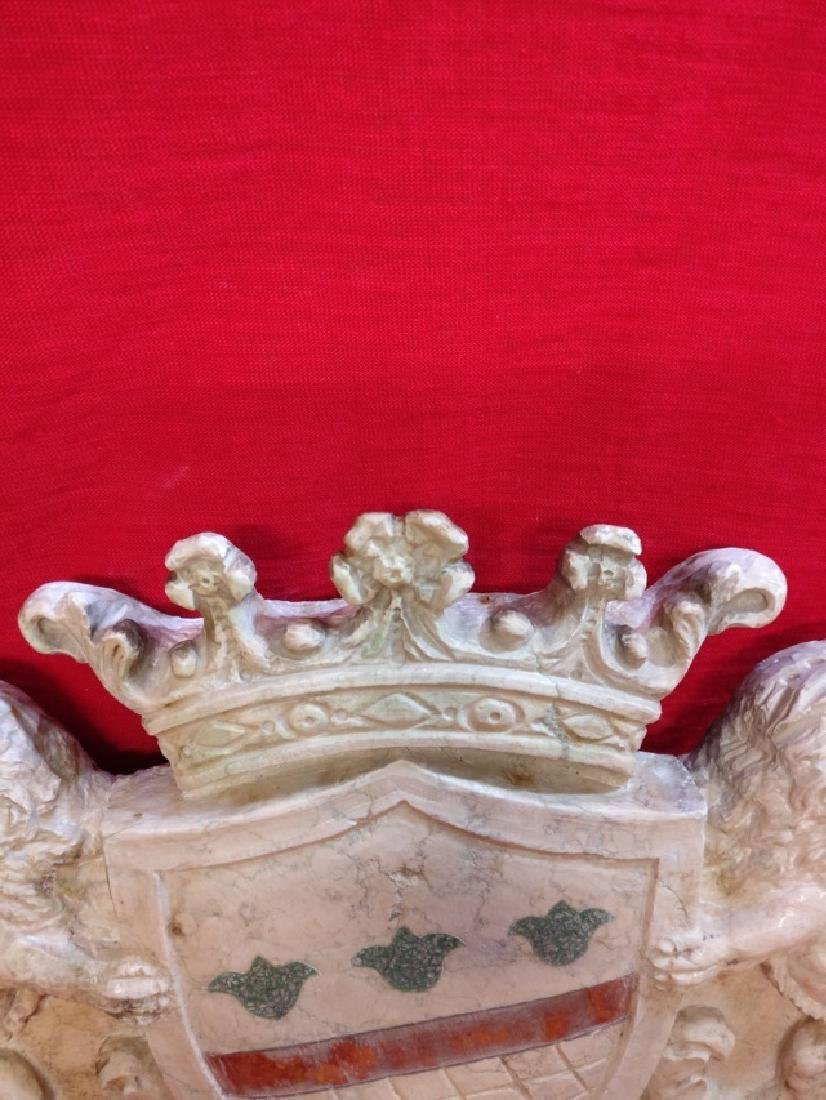 Florentine coat of arms in Botticino marble - 8