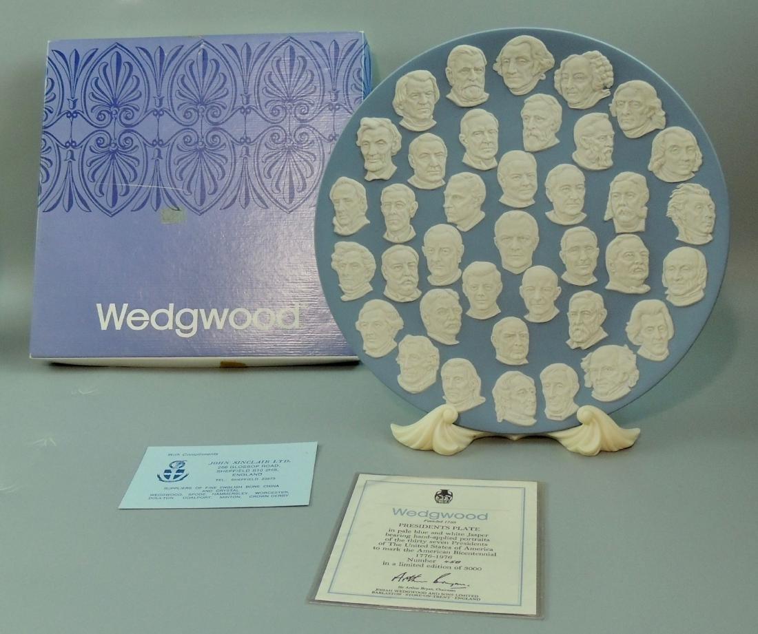 Wedgwood Jasperware Presidents Collector Plate 1976