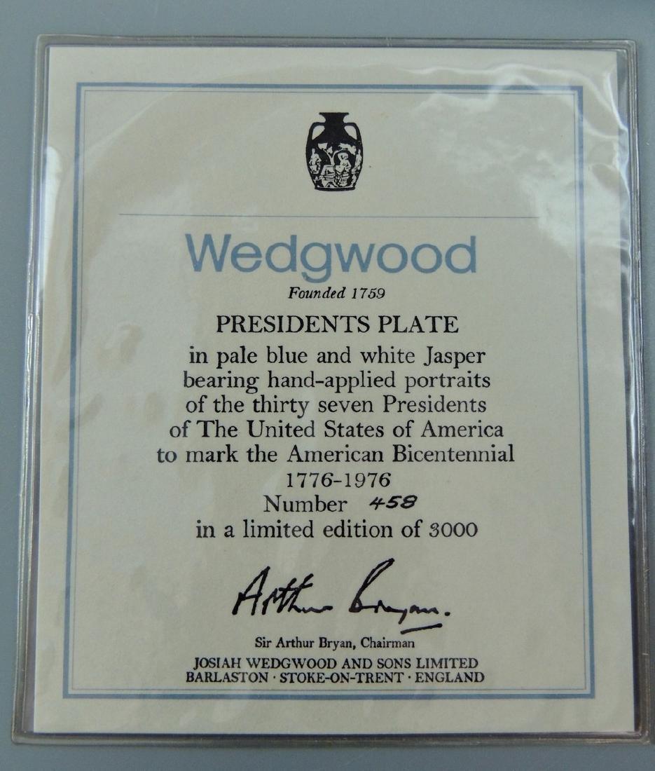 Wedgwood Jasperware Presidents Collector Plate 1976 - 3