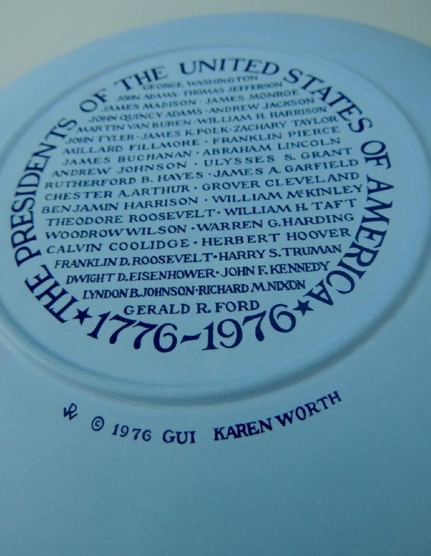 Wedgwood Jasperware Presidents Collector Plate 1976 - 4