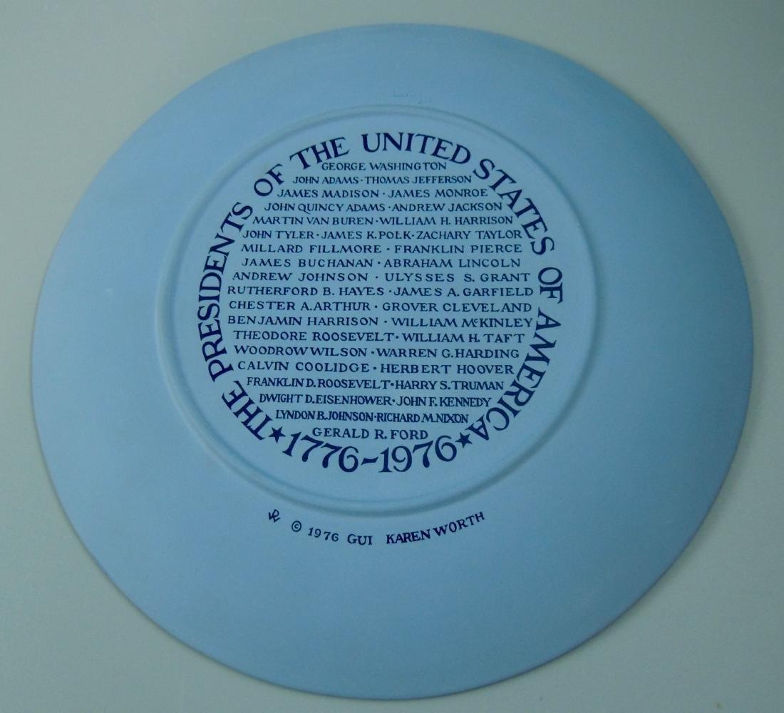 Wedgwood Jasperware Presidents Collector Plate 1976 - 5