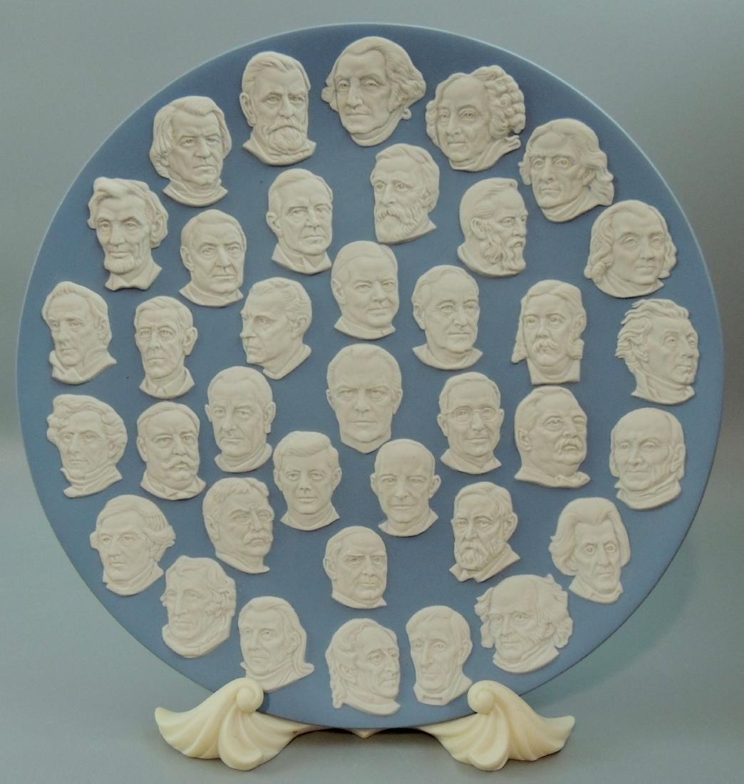 Wedgwood Jasperware Presidents Collector Plate 1976 - 7