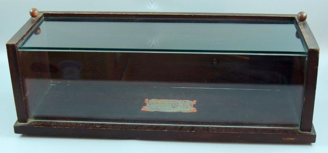 Antique SEALPACKERCHIEF Counter Top Glass Case